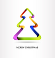 Christmas template vector image