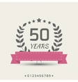 anniversary sign vector image