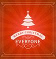 Christmas postcard ornament decoration background vector image