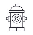 hydrant line icon sign on vector image