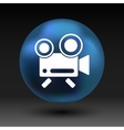 icon isolated chair recording square camcorder vector image