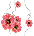 Seamless floral background design vector image