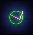smoking area neon sign neon symbol a luminous vector image