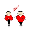 Valentine day Couple together for your design vector image