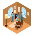 Windows Cleaning Isometric Design vector image