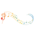 A music note vector image