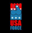 usa force hand american fist symbol of usa vector image