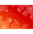 Abstract red background made from triangles vector image vector image