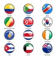Set circle icon Flags of world sovereign states vector image