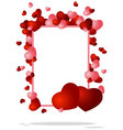 congratulatory background with two hearts vector image vector image