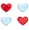 Red Blue Hearts vector image