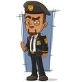 Cartoon crafty general in dress uniform vector image