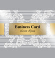 business card baroque ornament pattern vector image