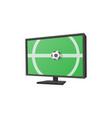 Football match on tv cartoon icon vector image