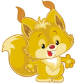 little squirrel vector image