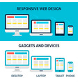 Responsive Web Design Gadgets and Devices Flat vector image