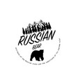 russian bear vector image