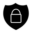 security shield with lock silhouette icon 48x48 vector image