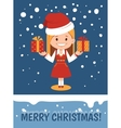 Template of Merry Christmas card vector image
