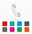 Phone icon Call sign vector image