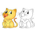 animal outline for cat vector image vector image