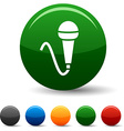 Mic icons vector image