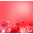 hearts background pink vector image
