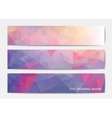 Abstract banner templates vector image