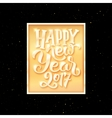 Happy New Year 2017 text on party flyer template vector image