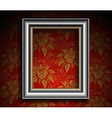 Silver Antique Frame on Grunge Wall vector image vector image