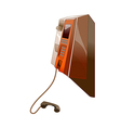 A public telephone vector image vector image