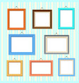 retro picture image cartoon frames set vector image