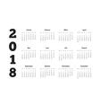 2018 year simple calendar on german language vector image