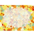 Colorful backround of fallen autumn leaves EPS 8 vector image vector image
