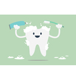 tooth is brush the teeth vector image