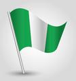 Nigerian flag on pole vector image