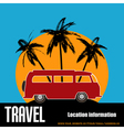 Tropical camper van vector image