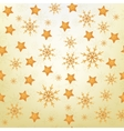 Christmas background of snowflakes and stars vector image