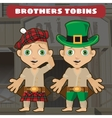 Fictional cartoon character - brothers vector image
