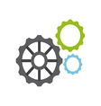 gears settings machine icon vector image