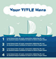 infographics elements ship in the sea 4 steps vector image
