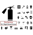 Set of 24 Fire service Icon vector image