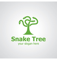 snake tree vector image