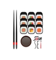 sushi set color flat icon vector image