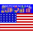 US Independence Day vector image