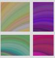 Colorful curved digital art page background set vector image