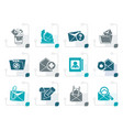 stylized e-mail and message icons vector image