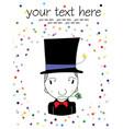 magician cartoon vector image