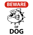 Dog beware vector image