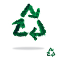 Oil painted recycling symbol vector image